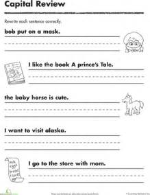 practicing capitals worksheet education com