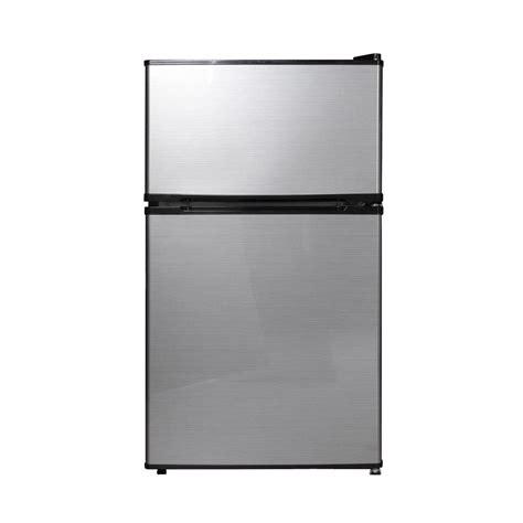 Freezer Sharp Mini Igloo 1 6 Cu Ft Mini Refrigerator In Silver Grey Fr115i Silver The Home Depot
