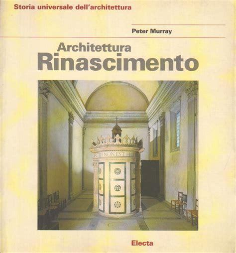 libreria architettura architettura rinascimento murray architettura
