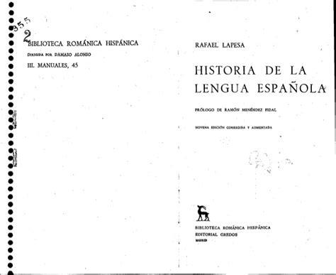 historia de la lengua historia de la lengua espa 241 ola s2