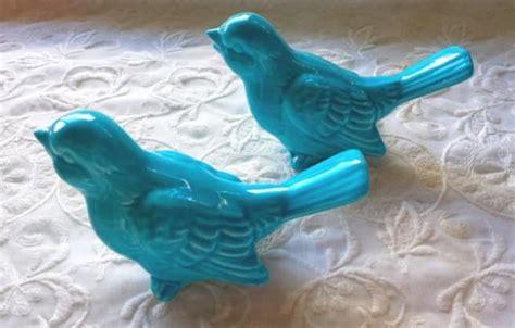 Birds Home Decor by Wedding Cake Topper Ceramic Birds Vintage Ceramic In