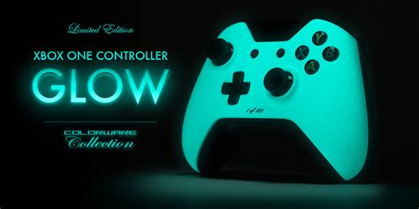 spray paint xbox one s xbox one controller in blue glow in the paint tech