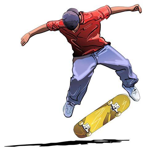 Home Design Za skateboarder blue note art