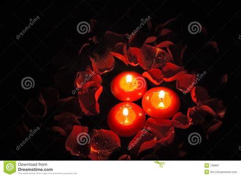 candele e petali di rosa candele con i petali di rosa 1 fotografia stock libera da