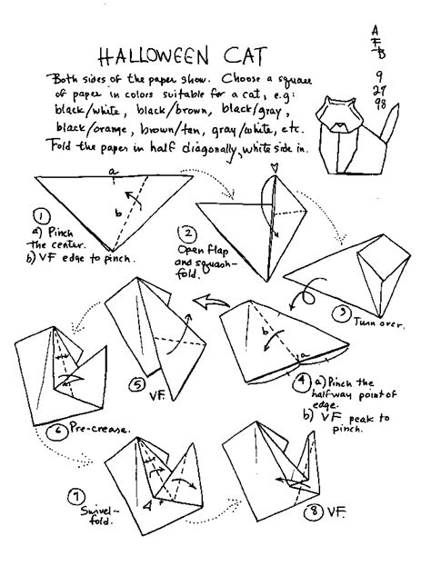 Origami Cat Diagram - barbour origami