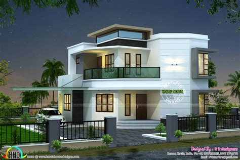 modern home design plans 1838 sq ft modern house kerala home design and