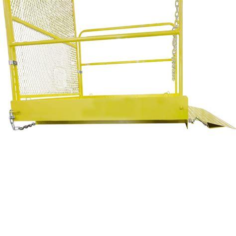 Work Platforms With Handrails 54 quot x 54 quot loading work platform w handrails 2 000 lb capacity