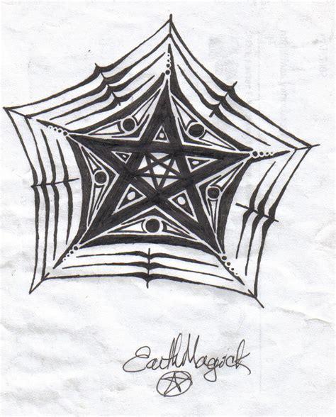 doodle pentagram spider web pentacle doodle by earthmagick on deviantart