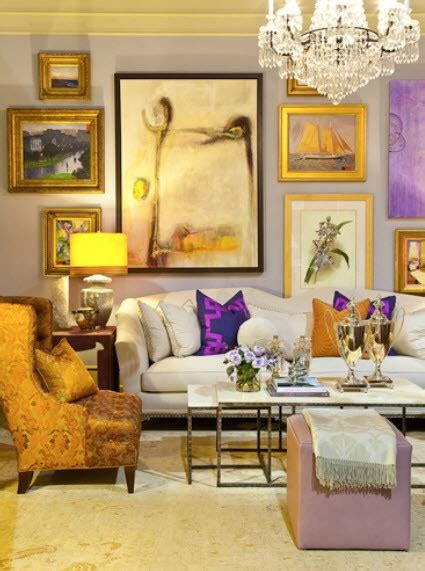 purple and gold room the art selectress march 2012