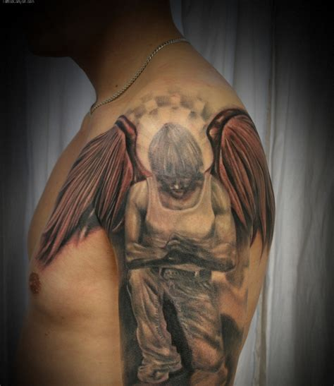 angel tattoo on shoulder 63 fantastic shoulder tattoos