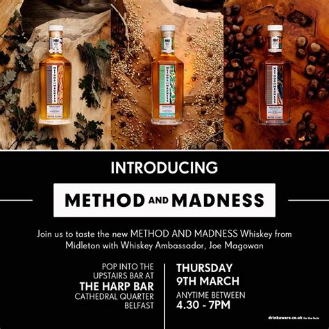 Methods And Madness whiskey tasting method and madness whiskey club