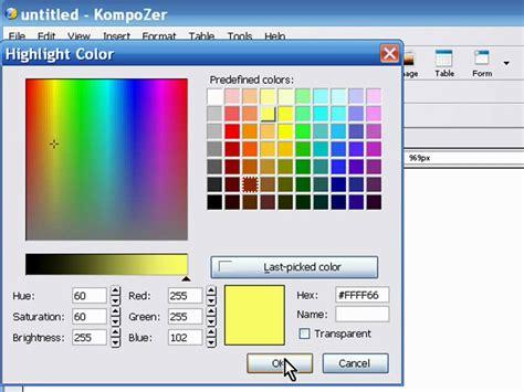 tutorial web editor free nvu kompozer html editor tutorial part 1