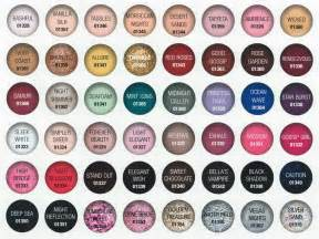 opi color chart gelish gel nail color chart