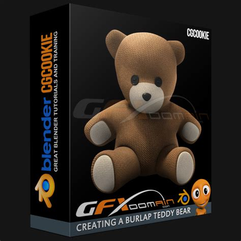 blender tutorial teddy bear cg cookie creating a burlap teddy bear gfxdomain blog