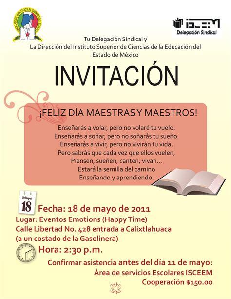 tarjeta de invitacion para el dia de los jardines delegaci 243 n sindical isceem 01 01 invitaci 211 n dia del