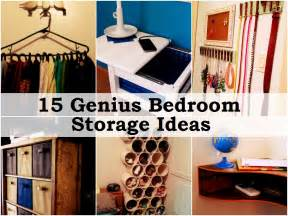 Diy Bedroom Organization Ideas 15 Genius Bedroom Storage Ideas Handy Diy