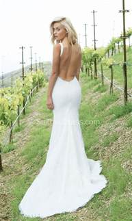 summer wedding dresses white lace summer wedding dresses 2017 mermaid open back sleeveless simple bridal dresses ba4889