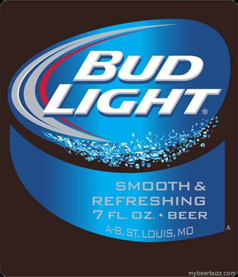 Bud Light Label by Bud Light 10oz Cans 95 Calories And 7oz Bottles 64
