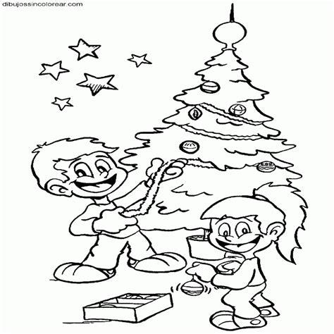 arbol de navidad dibujos para imprimir pap noel con rbol
