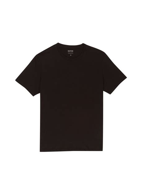black crew neck t shirt mens sportswear clothing