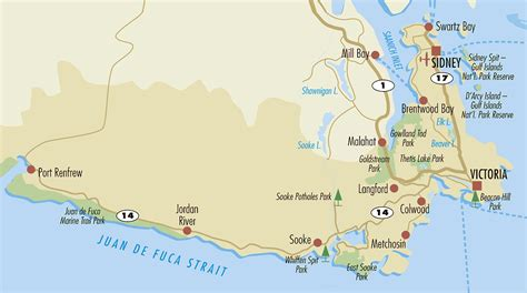 map of vancouver island south island traveling islanders