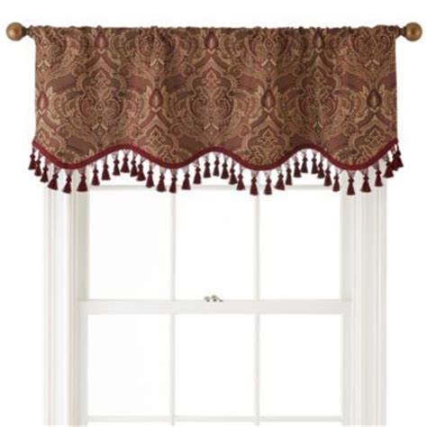 Jcpenney Curtains Kitchen Royal Velvet 174 Vance Rod Pocket Lined Scalloped Valance Found At Jcpenney Home Decor