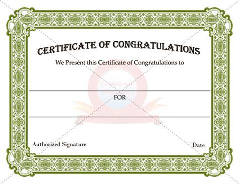 congratulation certificates certificate templates