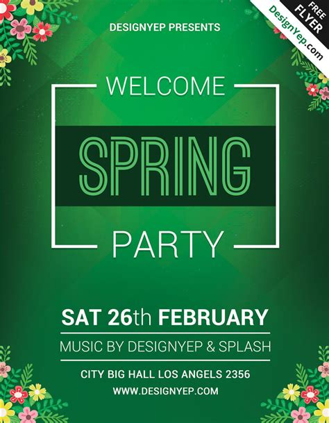 25 fresh spring psd flyer templates free psd templates