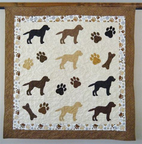 golden retriever applique pattern labrador retrievers quilt throw size 52 x 54 inches etsy i this quilts