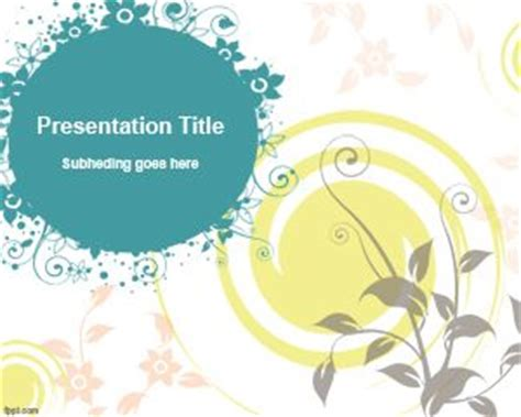 simple themes for powerpoint 2010 free download free simple powerpoint template with flowers