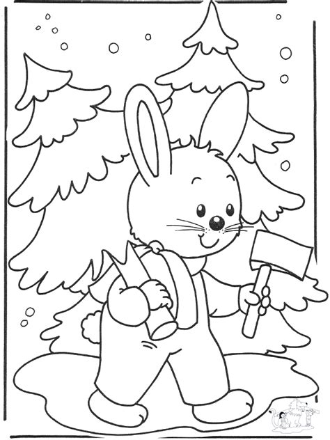 winter rabbit coloring page free coloring pages winter coloring pages winter