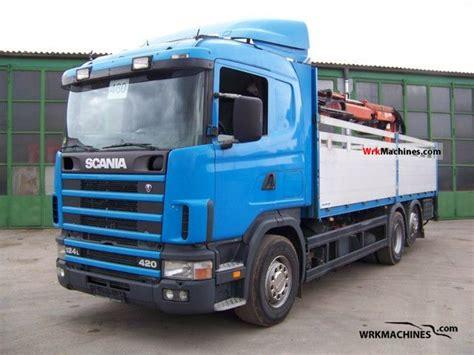 scania 4 series 124 l 420 2002 truck mounted crane