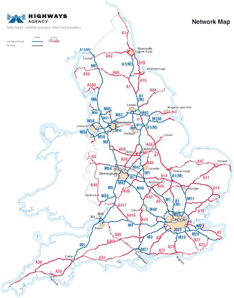printable road maps uk major road lengths and locations a freedom of