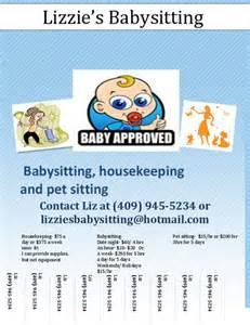 10 best babysitting flyer template images on pinterest