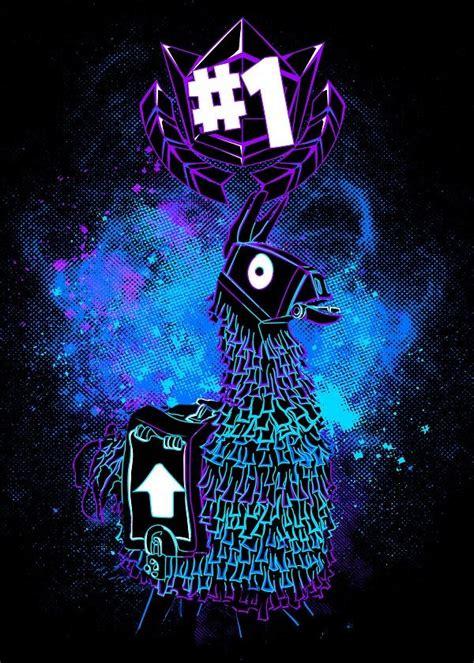 fortnite characters llama displate artwork  artist