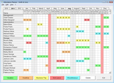 staff planner excel template employee vacation schedule excel free calendar template 2016