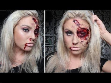 halloween makeup tutorial liquid latex burnt bloody sfx makeup halloween tutorial liquid
