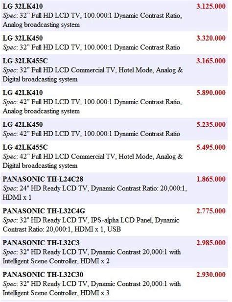 Tv Lcd Baru Paling Murah daftar harga tv sharp aquos murah terbaru di foto 2017