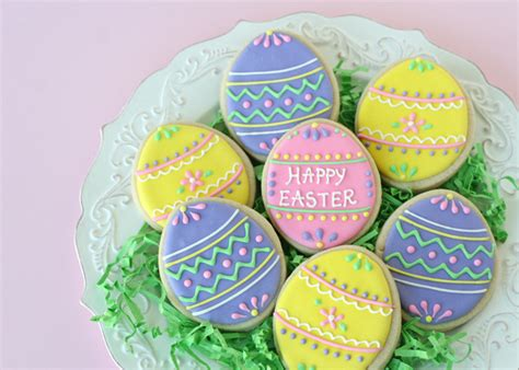 pretty easter eggs and easy decorated easter egg cookies glorious treats