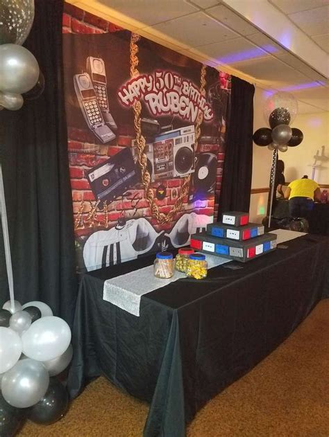 90s Hip Hop Party Decorations | old school birthday party ideas hip hop 50th and school
