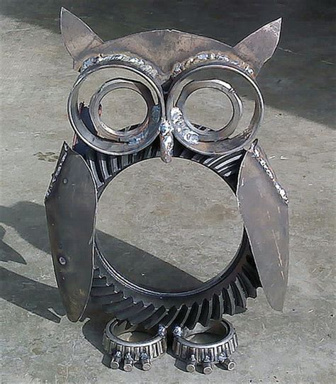 metal craft projects 60 owl by s alcantara flickr photo