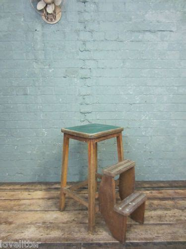 industrial wooden step stool kitchen chair stool library