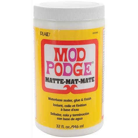 mod podge matte finish plaid craft mod podge matte finish 32oz 123952 create