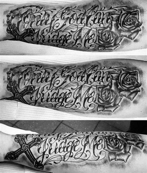 hip hop tattoos for men 60 only god can judge me designs for quote