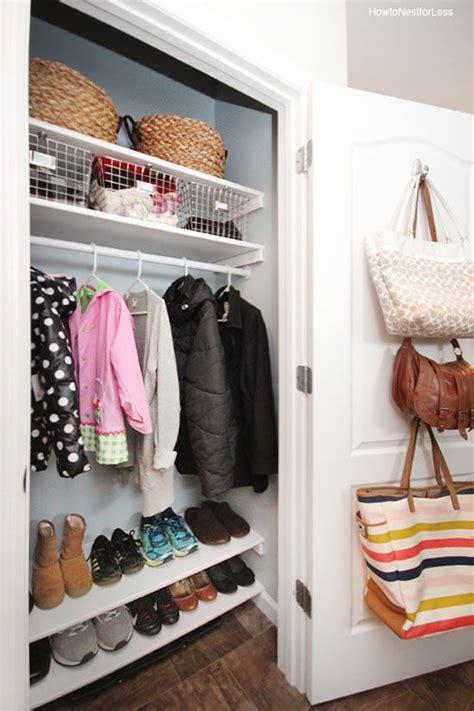 Front Closet Organization Ideas by Best 25 Coat Closet Makeovers Ideas On