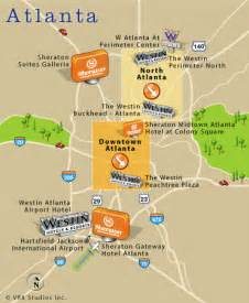 Atlanta Attractions Map by Map Of Atlanta Ga Atlanta Georgia Hotels Restaurants