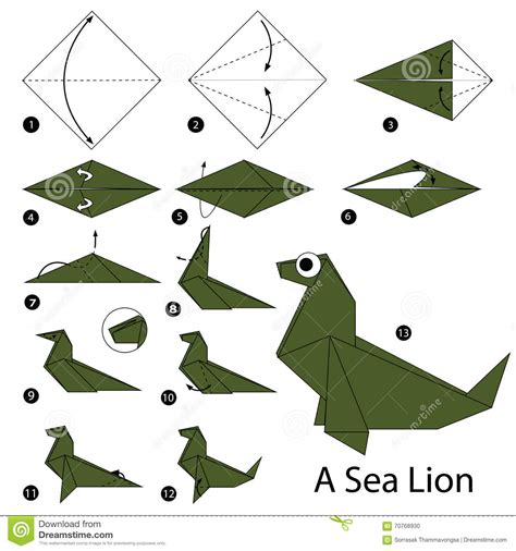 How To Make Origami Sea Animals - step by step how to make origami a sea