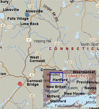 Bed And Breakfast Berkshires Map For Housatonic River Connecticut White Water Falls