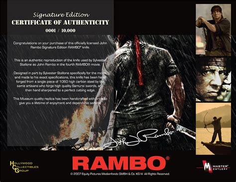 when was rambo 4 made rambo 4 knife signature
