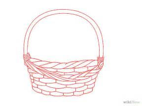 sketch of basket drawing of basket of flowers cliparts co